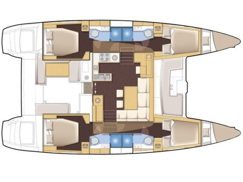 Floor plan image for yacht Helia 44 - Grenade