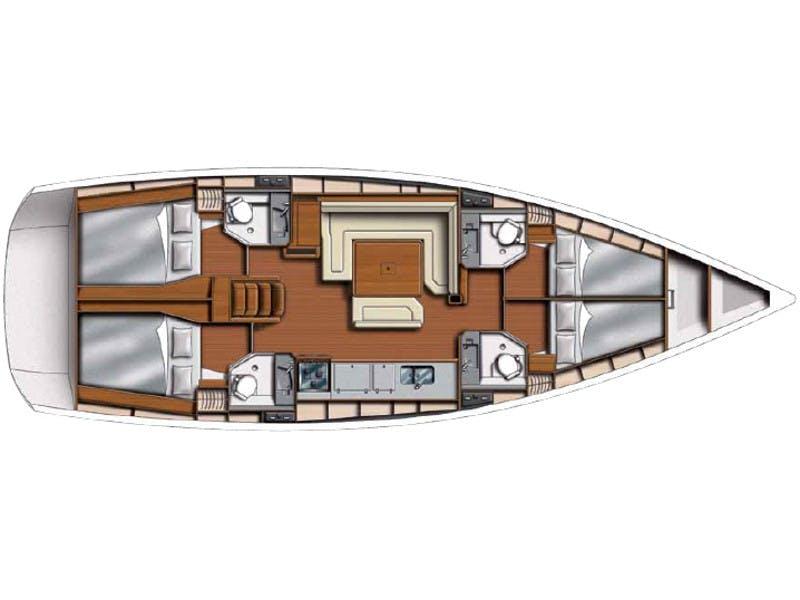 Floor plan image for yacht Sun Odyssey 469 - Pythagoras