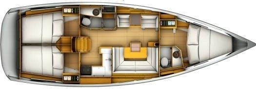 Floor plan image for yacht Sun Odyssey 409 - Skipcool 4